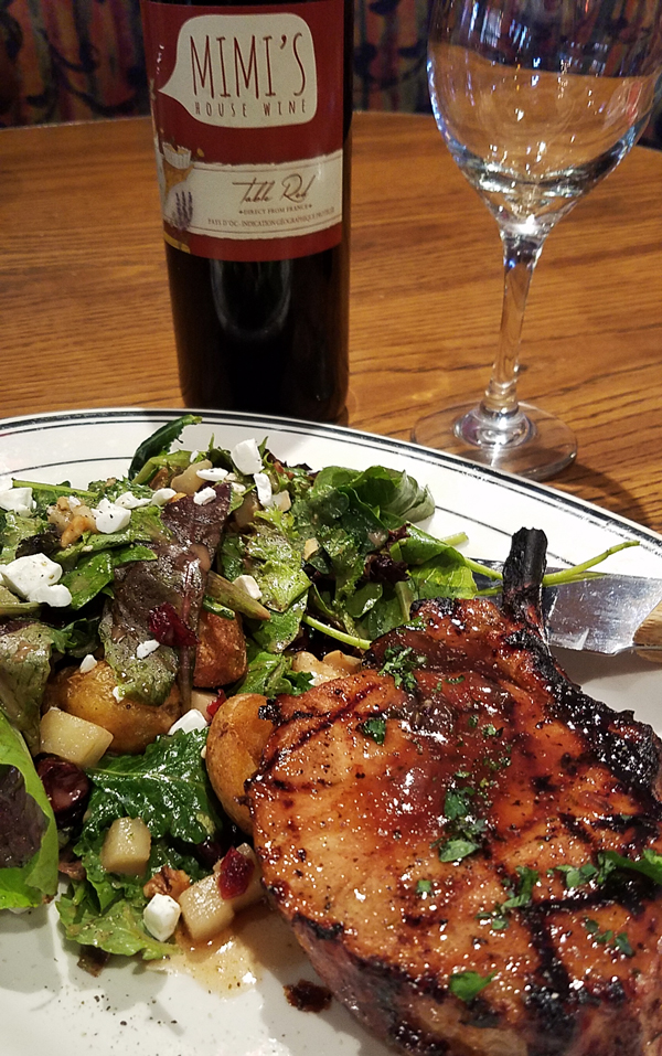Mimi's Cafe Honey Lavender Pork Chop