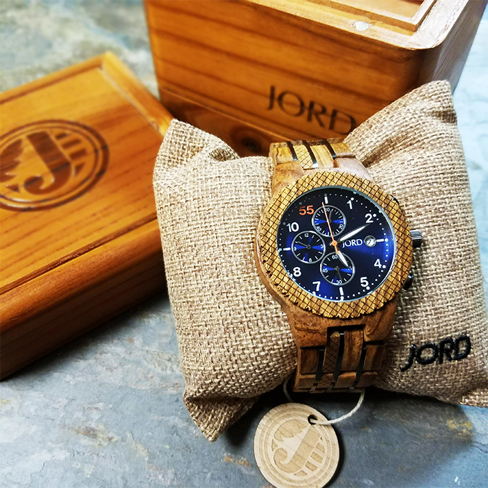 JORD mens wood watch