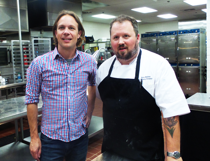 Chef Nick Walker Cobb Galleria Centre Jeff Heck CEO Monday Night Brewing
