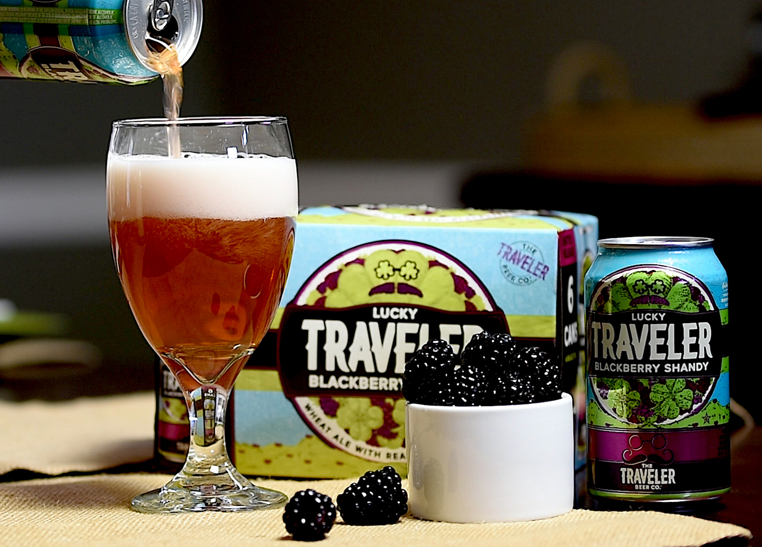 Blackberry Shandy Lucky Traveler Beer Company